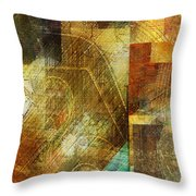 Abstract Music Shop Window One Throw Pillow