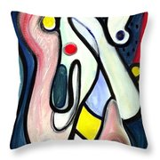 Abstract Mystery Throw Pillow