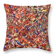 Abstract - Nail Polish - Clown Suicide Throw Pillow by Mike Savad