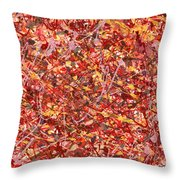 Abstract - Nail Polish - Cosmetically Speaking Throw Pillow by Mike Savad