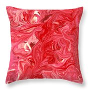 Abstract - Nail Polish - My Ice Cream Melted Throw Pillow by Mike Savad