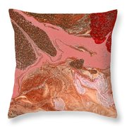 Abstract - Nail Polish - The Flow Of The Universe Throw Pillow by Mike Savad