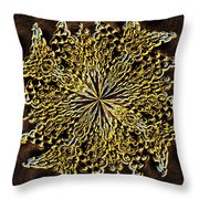 Abstract Neon Gold Throw Pillow