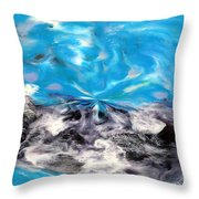 Abstract Nine Of Twenty One Throw Pillow