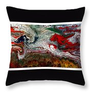 Abstract Number 32 Throw Pillow
