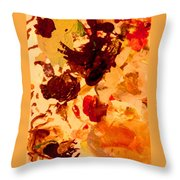 Abstract Number One Throw Pillow