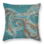 Abstract Octopus Throw Pillow