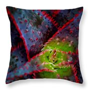 Abstract Of Bromeliad Throw Pillow