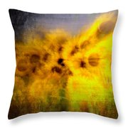 Abstract Of Sunflowers Throw Pillow
