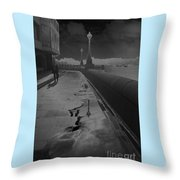 Abstract Of Thames Embankment  As Solarised Throw Pillow