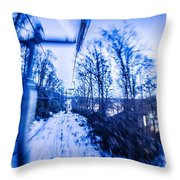 Abstract On A Ski Lift Throw Pillow