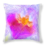 Abstract Orchid Pastel Throw Pillow by Antony McAulay