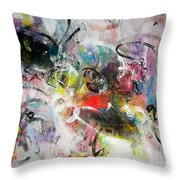 Abstract Painting Colourful Art Throw Pillow