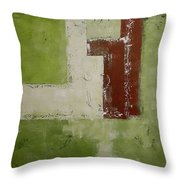 Abstract Painting Green 13013 Throw Pillow