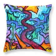 Abstract Paths Throw Pillow
