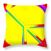 Abstract Peace Throw Pillow
