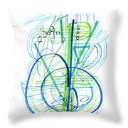 Abstract Pen Drawing Fifty-eight Throw Pillow