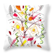 Abstract Pen Drawing Fifty-five Throw Pillow