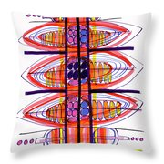 Abstract Pen Drawing Fifty Throw Pillow