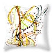 Abstract Pen Drawing Fifty-nine Throw Pillow