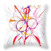 Abstract Pen Drawing Fifty-one Throw Pillow