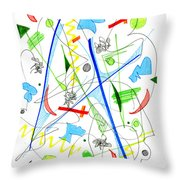 Abstract Pen Drawing Fifty-three Throw Pillow