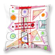 Abstract Pen Drawing Fifty-two Throw Pillow