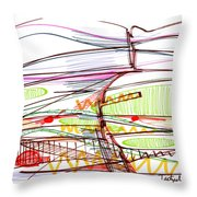 Abstract Pen Drawing Forty-five Throw Pillow
