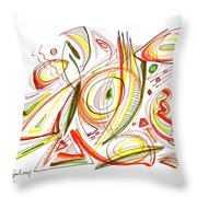 Abstract Pen Drawing Forty-six Throw Pillow