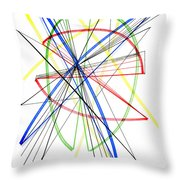 Abstract Pen Drawing Seventy-five Throw Pillow