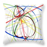 Abstract Pen Drawing Seventy-four Throw Pillow
