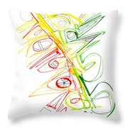 Abstract Pen Drawing Seventy-one Throw Pillow