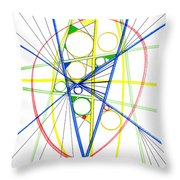 Abstract Pen Drawing Seventy-three Throw Pillow