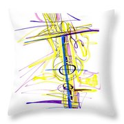 Abstract Pen Drawing Seventy-two Throw Pillow