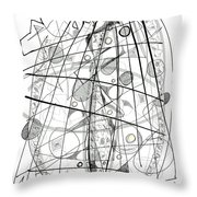 Abstract Pen Drawing Sixty-eight Throw Pillow