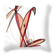 Abstract Pen Drawing Sixty-five Throw Pillow