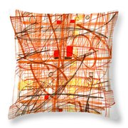 Abstract Pen Drawing Sixty-one Throw Pillow