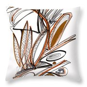 Abstract Pen Drawing Sixty-six Throw Pillow