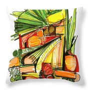 Abstract Pen Drawing Sixty-two Throw Pillow