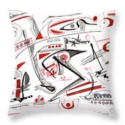 Abstract Pen Drawing Thirty-nine Throw Pillow