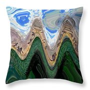 Abstract - Penguins On Ice Throw Pillow
