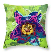 Abstract Peonies Throw Pillow