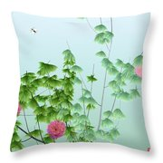 Abstract Peony Wasp Throw Pillow