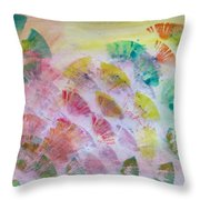 Abstract Petals Throw Pillow