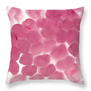 Abstract Pink Dots Throw Pillow