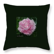 Abstract Pink Flower Throw Pillow