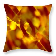 Abstract Plants Throw Pillow
