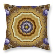 Abstract Pond In Gold Throw Pillow