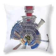 Abstract Construction Power Plant Throw Pillow