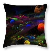 Abstract Psychedelic Fractal Art Throw Pillow